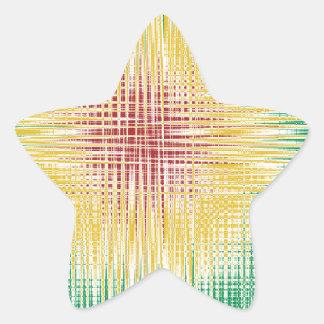 Linhas do Bullseye de Rasta Adesivos Estrelas