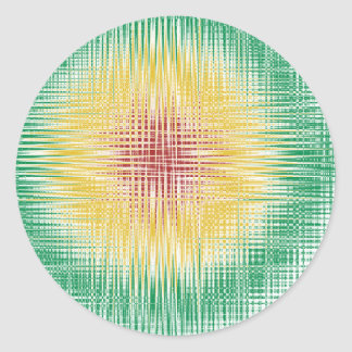 Linhas do Bullseye de Rasta Adesivos Redondos