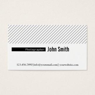 Linhas mínimas cartão de visita do fotógrafo