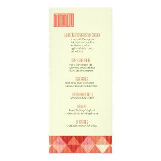 Linhas modernas que Wedding o coral do menu Convite Personalizado