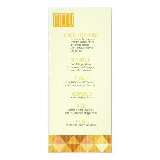 Linhas modernas que Wedding o ouro do menu Convite Personalizados
