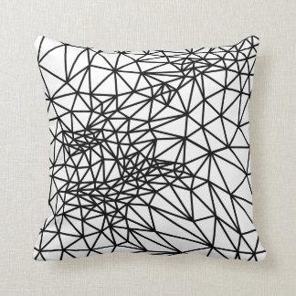 Linhas preto e branco travesseiros de decoração