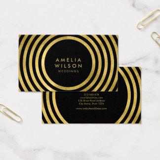 Linhas redondas eventos do ouro preto elegante dos cartão de visitas