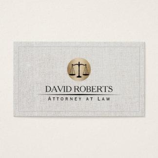 Linho elegante do logotipo da escala da lei do cartão de visitas