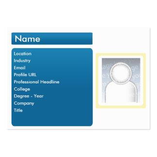 LinkedIn escuro - carnudo Cartão De Visita Grande