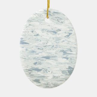 Linóleo retro azul da cozinha do meio século do ornamento de cerâmica oval