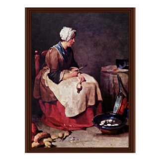 Líquido de limpeza do nabo por Chardin Cartão Postal