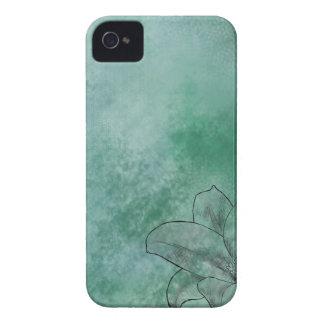Lírio no azul capa para iPhone 4 Case-Mate