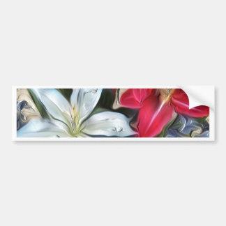 Lírios abstratos e orquídeas do impressão floral adesivo para carro