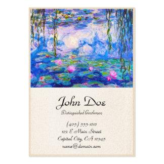 Lírios de água Claude Monet Cartão De Visita Grande