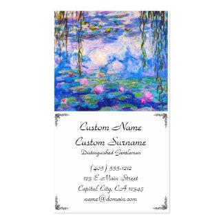 Lírios de água Claude Monet Modelo Cartões De Visita