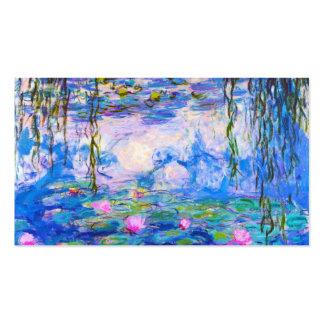 Lírios de água Claude Monet que pinta o antigo mes Cartão De Visita