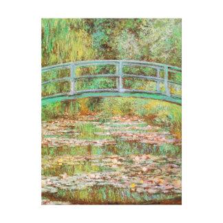 Lírios de água e belas artes japonesas de Monet da Impressão Em Tela