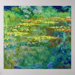 Lírios de água - Le Bassin DES Nympheas por Monet Poster