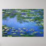 Lírios de água por Claude Monet Poster