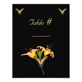Lírios e borboletas que wedding o cartão do lugar convite 10.79 x 13.97cm