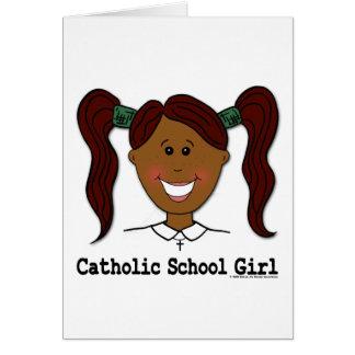 ~ Lisa da menina da escola católica Cartão Comemorativo