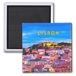 Lisboa 001C Ímã Quadrado