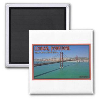 Lisboa - 25a da ponte de abril ímã quadrado