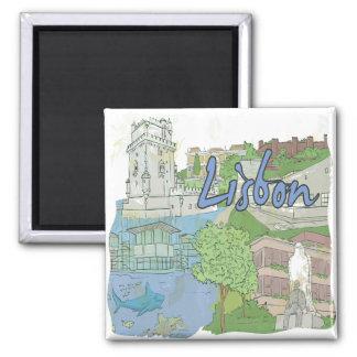 Lisboa Ímã Quadrado