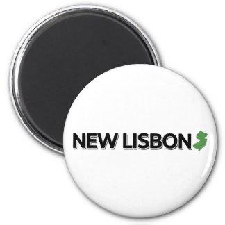 Lisboa nova, New-jersey Ímã Redondo 5.08cm