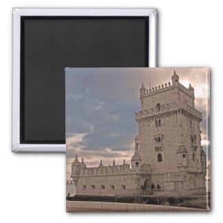 Lisboa Torre de Belém Ímã Ímã Quadrado