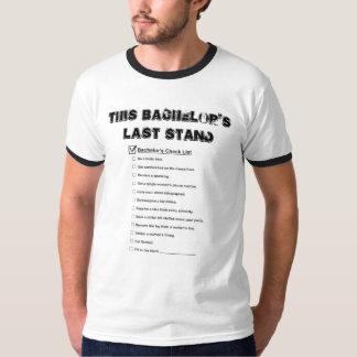 Lista de verificação do despedida de solteiro t-shirt