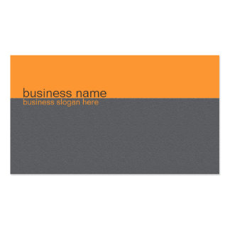 Listra alaranjada/cinzenta simples elegante lisa cartão de visita