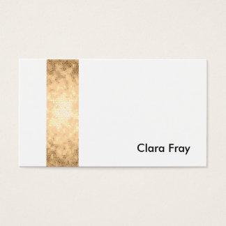 listra clara elegante do ouro cartão de visitas