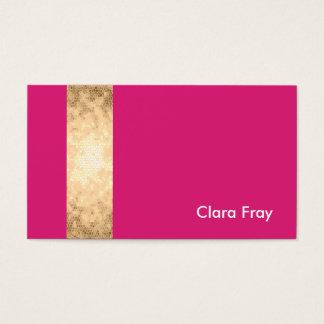 listra clara elegante do rosa do ouro cartão de visitas