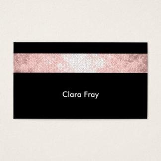 listra cor-de-rosa clara elegante do preto do rosa cartão de visitas