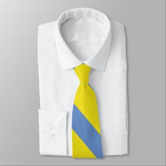 Listra da universidade do amarelo e dos azul-céu gravata