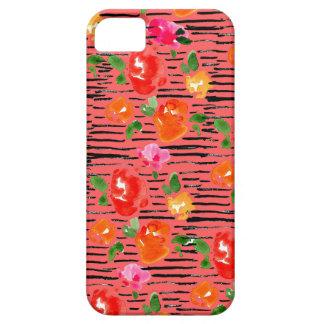 Listra floral capa para iPhone 5
