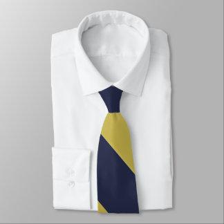 Listra larga da universidade dos azuis marinhos & gravata