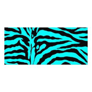 Listra vívida da zebra de turquesa 10.16 x 22.86cm panfleto