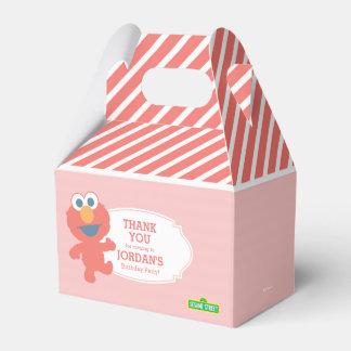 Listrado cor-de-rosa de Elmo do bebê do Sesame Caixinhas De Lembrancinhas Para Casamentos