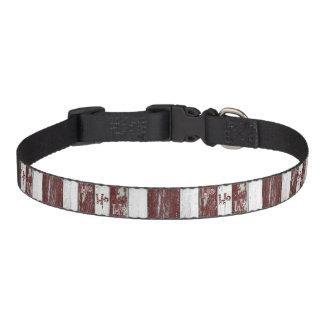 Listrado vermelho e branco rústico Ho Ho Ho Coleiras Para Cachorro
