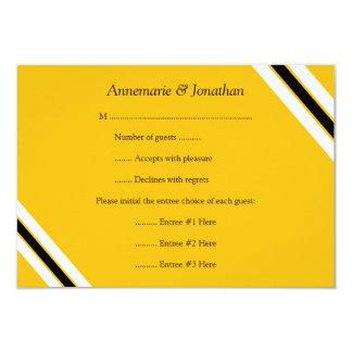 listras 3.5x5 horizontais amarelas pretas convite 8.89 x 12.7cm
