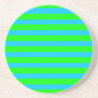 Listras azuis de néon do verde limão e da cerceta porta copos para bebidas