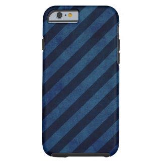 Listras azuis do Grunge Capa Tough Para iPhone 6
