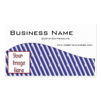 Listras azuis w/Photo ou cartões de visitas do cos