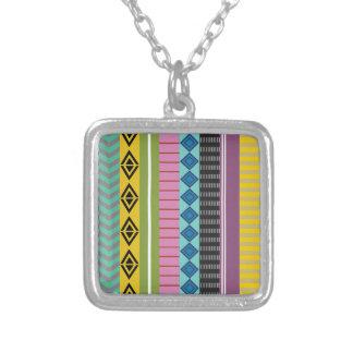Listras bolivianas colar banhado a prata