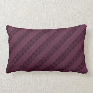 Listras carmesins elegantes - travesseiro atrativo