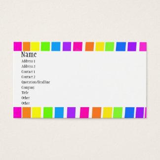 Listras coloridas cartão de visita