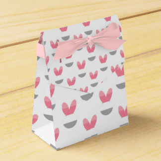 Listras cor-de-rosa do coelho caixinhas de lembrancinhas para casamentos