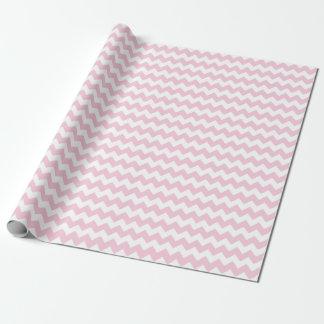 Listras cor-de-rosa e brancas do bebé do papel de presente