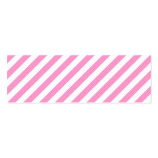 Listras cor-de-rosa e brancas dos doces cartão de visita skinny