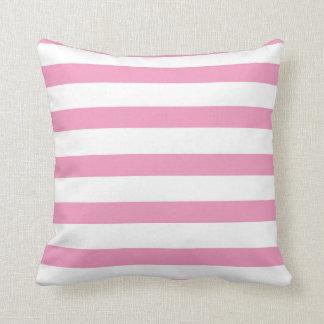 Listras cor-de-rosa e listras pretas travesseiro