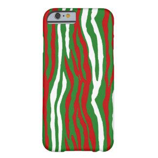 Listras da zebra do Natal Capa Barely There Para iPhone 6