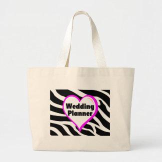 Listras da zebra do planejador do casamento bolsa para compra